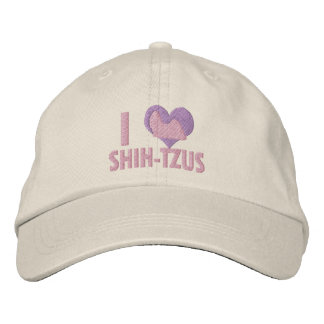 I Love Shih Tzus Pink Embroidered Baseball Caps