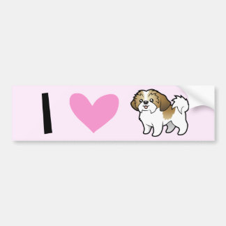 I Love Shih Tzus (puppy cut) Bumper Sticker