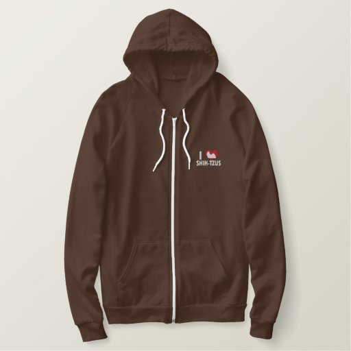 I Love Shih Tzus Women's Embroidered Hoodie