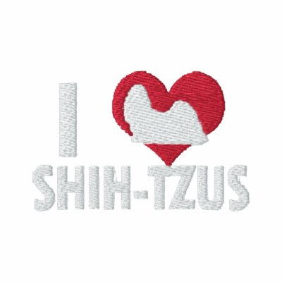 I Love Shih Tzus Women's Embroidered Polo Shirt