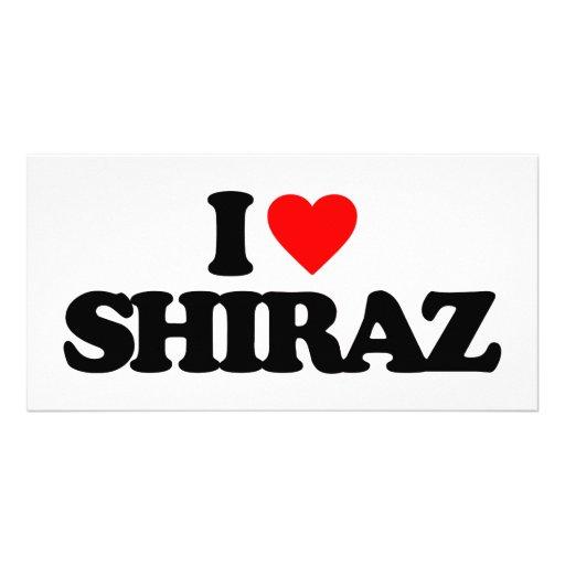 I LOVE SHIRAZ PERSONALIZED PHOTO CARD
