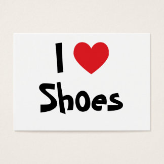 I Love Shoes Business Card
