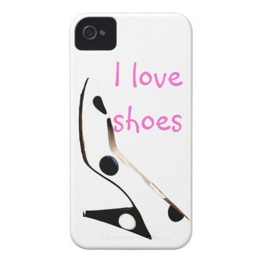 I Love Shoes Girly Fashion Case-Mate Blackberry Case