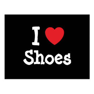 I love Shoes heart custom personalised Post Cards