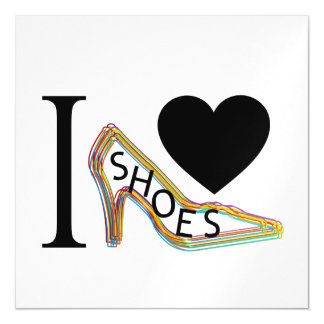 I love shoes magnetic invitations