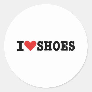 I love shoes round sticker