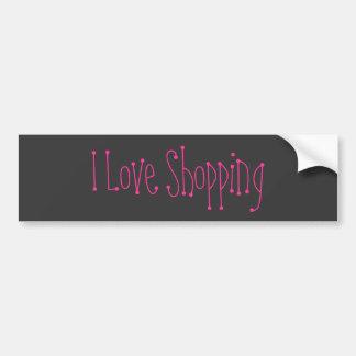 I Love Shopping Bumper Sticker