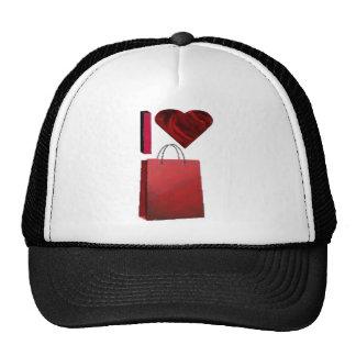I Love Shopping Cap