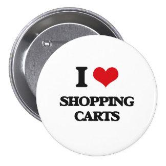 I Love Shopping Carts 7.5 Cm Round Badge