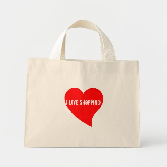 I Love Shopping! Floral Bag