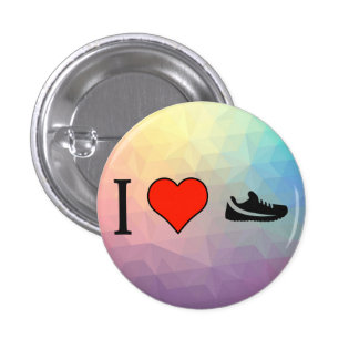 I Love Shopping For Running Shoes 3 Cm Round Badge