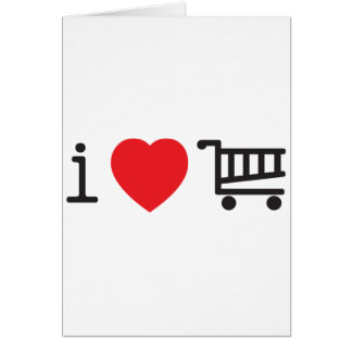 I love shopping greeting card