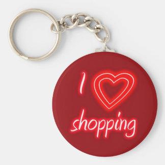 I Love Shopping Key Chain