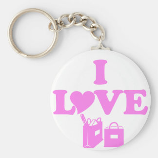 I Love Shopping Key Chains