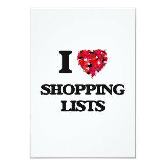 I Love Shopping Lists 9 Cm X 13 Cm Invitation Card