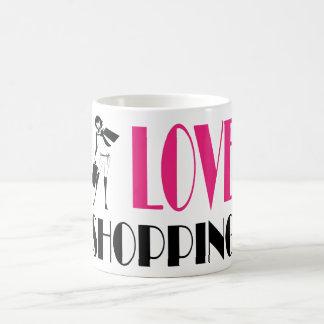 I Love Shopping Basic White Mug