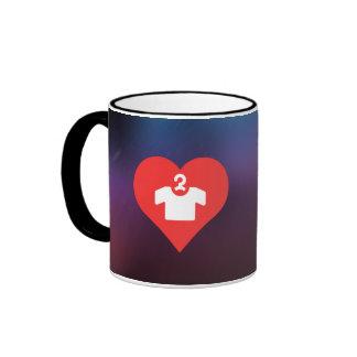 I Love Short Sleeve Shirts Icon Ringer Mug