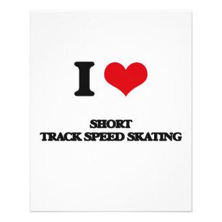 I Love Short Track Speed Skating Flyers