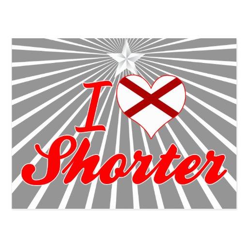 I Love Shorter, Alabama Post Card