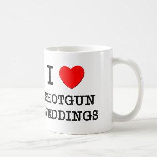 I Love Shotgun Weddings Basic White Mug