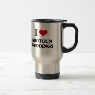 I Love Shotgun Weddings Stainless Steel Travel Mug