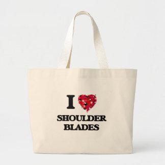 I love Shoulder Blades Jumbo Tote Bag