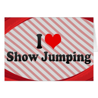 I love Show Jumping Note Card