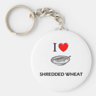 I Love Shredded Wheat Basic Round Button Key Ring