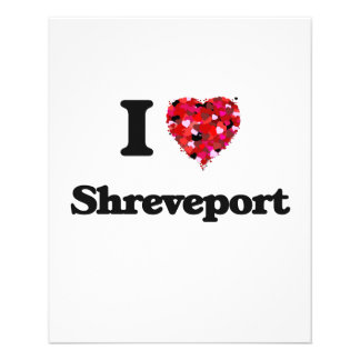 I love Shreveport Louisiana 11.5 Cm X 14 Cm Flyer