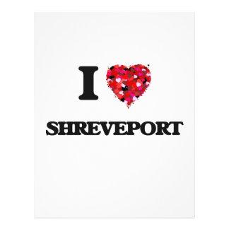 I love Shreveport Louisiana 21.5 Cm X 28 Cm Flyer