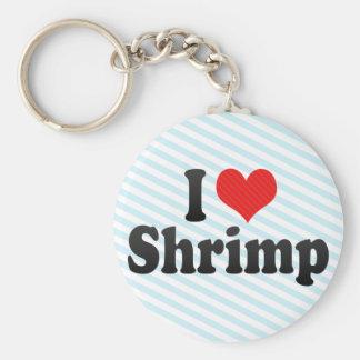 I Love Shrimp Basic Round Button Key Ring