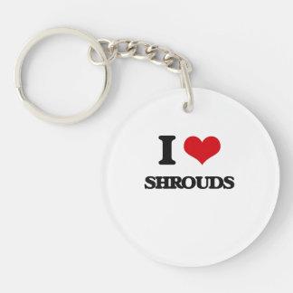 I Love Shrouds Single-Sided Round Acrylic Keychain