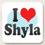 I love Shyla Beverage Coaster