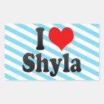 I love Shyla Rectangular Sticker
