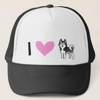 I Love Siberian Huskies / Alaskan Malamutes Trucker Hat