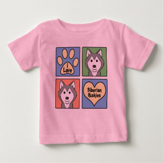 I Love Siberian Huskies Baby T-Shirt