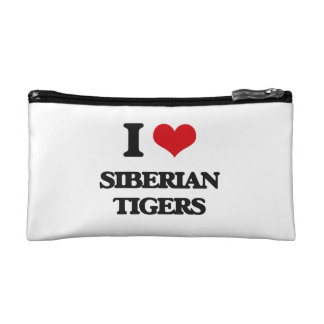 I love Siberian Tigers Makeup Bag