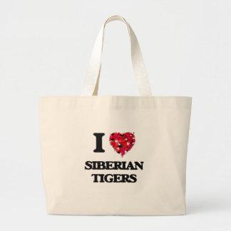 I love Siberian Tigers Jumbo Tote Bag