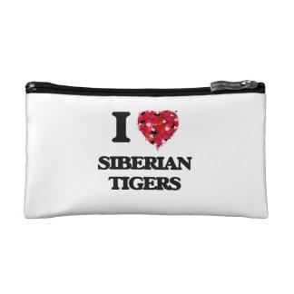 I love Siberian Tigers Makeup Bags