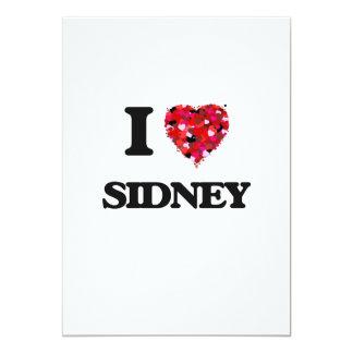 I Love Sidney 13 Cm X 18 Cm Invitation Card