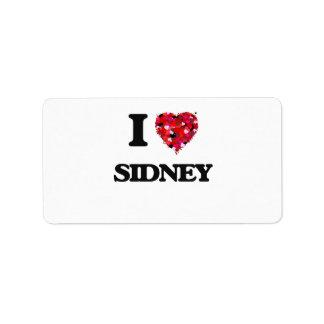I Love Sidney Address Label
