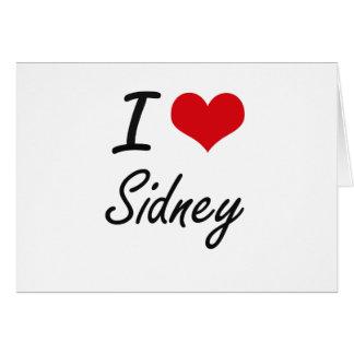 I Love Sidney artistic design Note Card