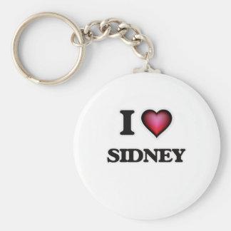 I Love Sidney Basic Round Button Key Ring