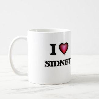 I Love Sidney Basic White Mug