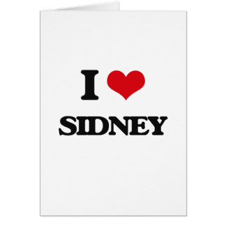 I Love Sidney Greeting Card