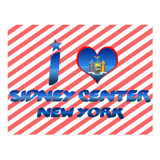 I love Sidney Center, New York Post Cards