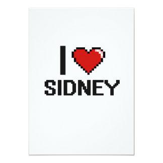 I Love Sidney Digital Retro Design 13 Cm X 18 Cm Invitation Card