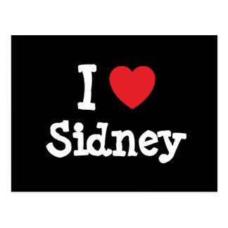I love Sidney heart custom personalized Post Card