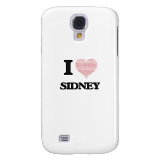 I love Sidney (heart made from words) design Galaxy S4 Case