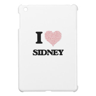 I love Sidney (heart made from words) design iPad Mini Cover